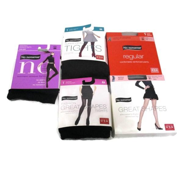 5c79b9883 No Nonsense Tights Pantyhose Lot Medium New